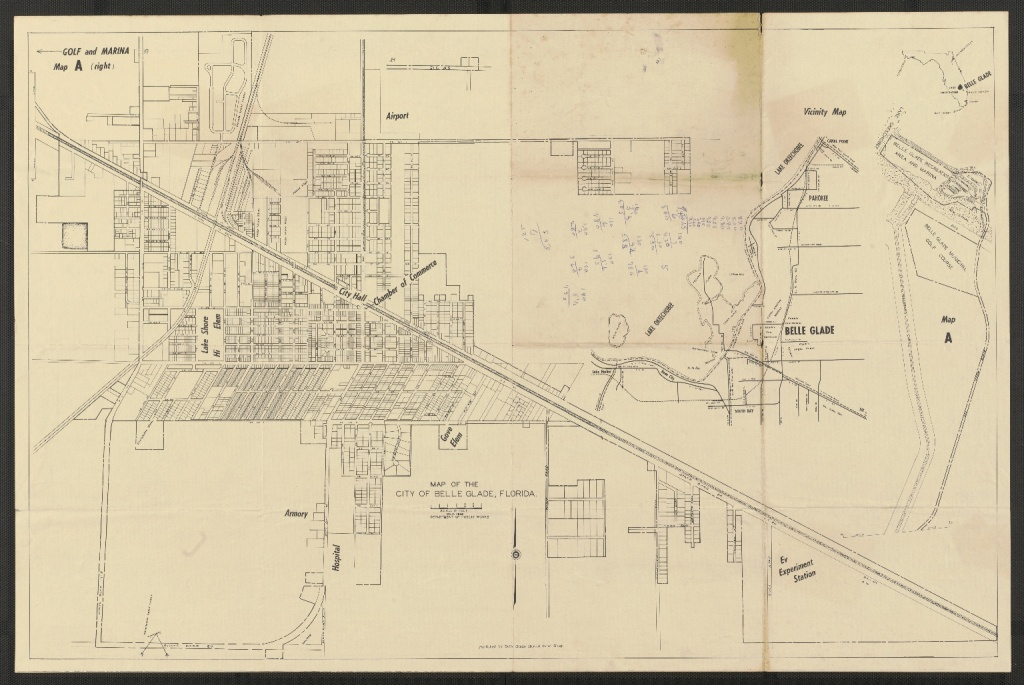 Map Of The City Of Belle Glade, Florida - Touchton Map Library - Belle Glade Florida Map