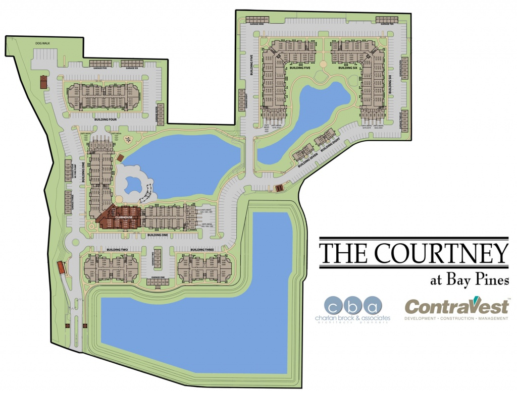 Map Of The Courtney At Bay Pine In St. Petersburg Fl - Bay Pines Florida Map