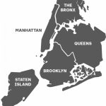 Map Of The Five Boroughs Of New York City And Travel Information   Map Of The 5 Boroughs Printable