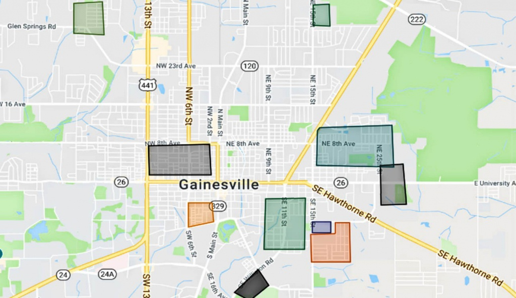Map Of The Gainesville Florida Gangs And Hoods - Where Is Gainesville Florida On The Map