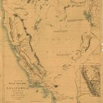 Map Of The Gold Regions Of California.   Library Of Congress   California Gold Mines Map