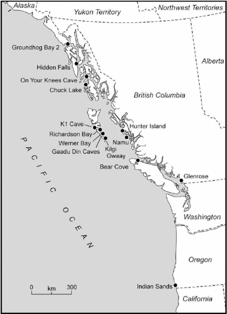 Map Of The Pacific Northwest Showing The Location Of Palaeocoastal - Northwest California Map