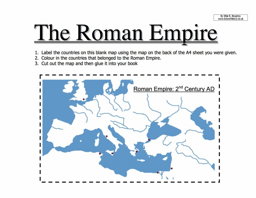 Map Of The Roman Empire Worksheet   Year 7 Pdf - Printable Map Of Ancient Rome