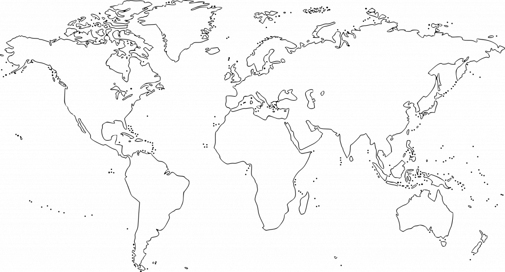 Map Of The World For Kids Black And White And Travel Information - World Map Printable Color