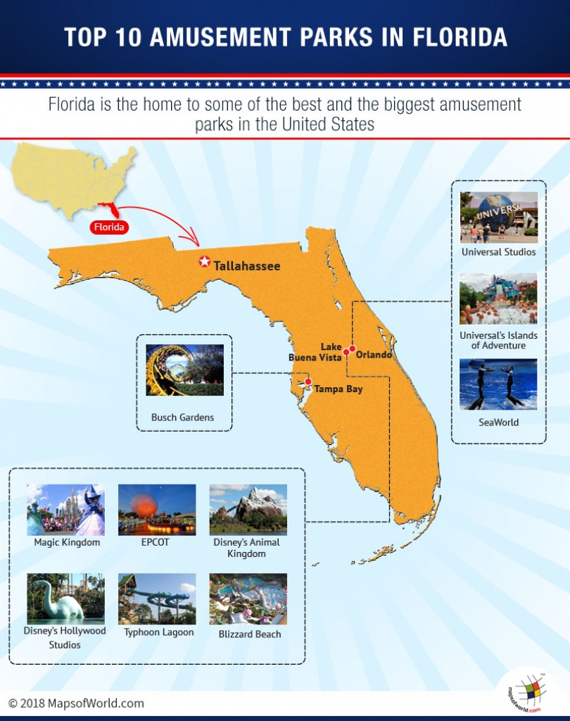 Map Of Top 10 Amusement Parks In Florida - Answers - Map Of Theme Parks In Florida