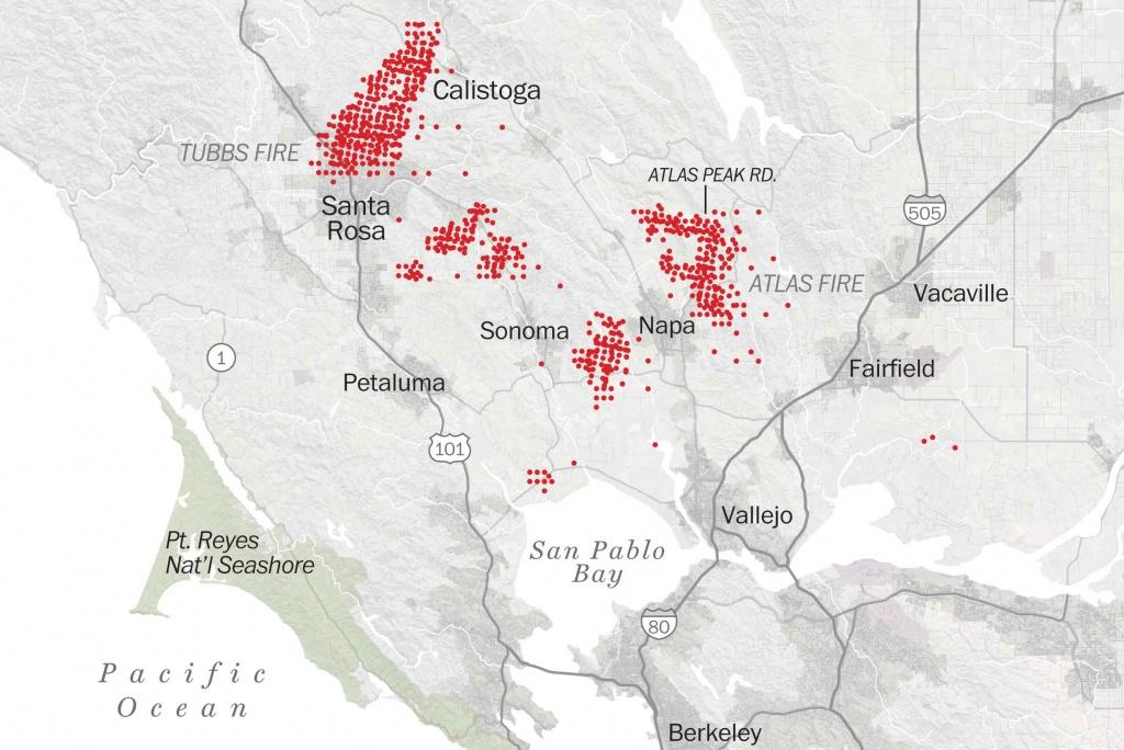 Map Of Tubbs Fire Santa Rosa - Washington Post - Fires In California 2017 Map