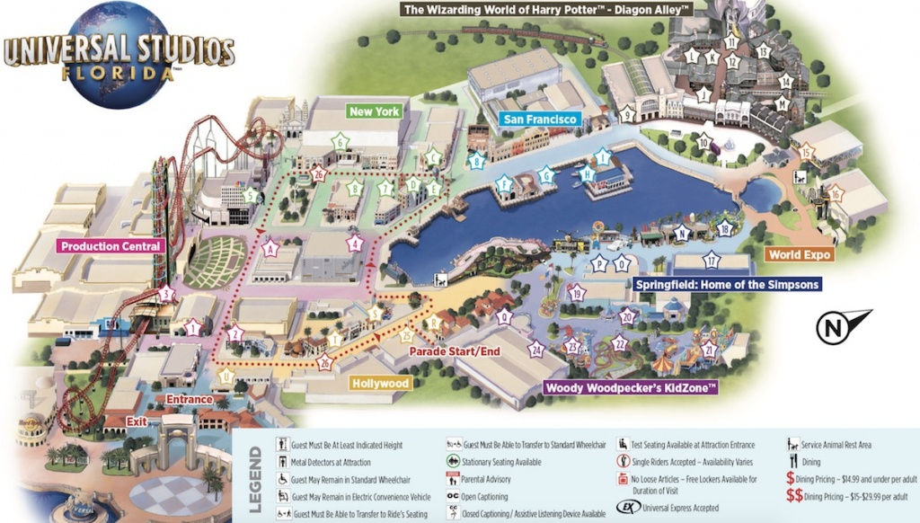 Map Of Universal Studios - Universal Studios Florida Map 2017
