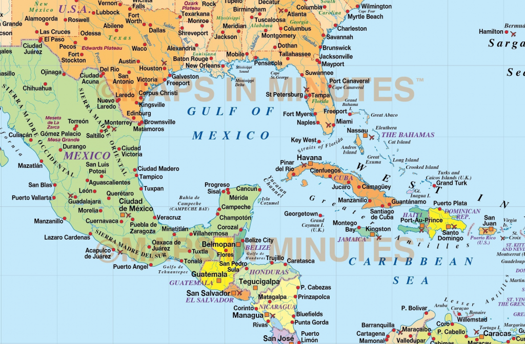 Map Of Us And Caribbean Islands | World Map - Maps Of Caribbean Islands Printable