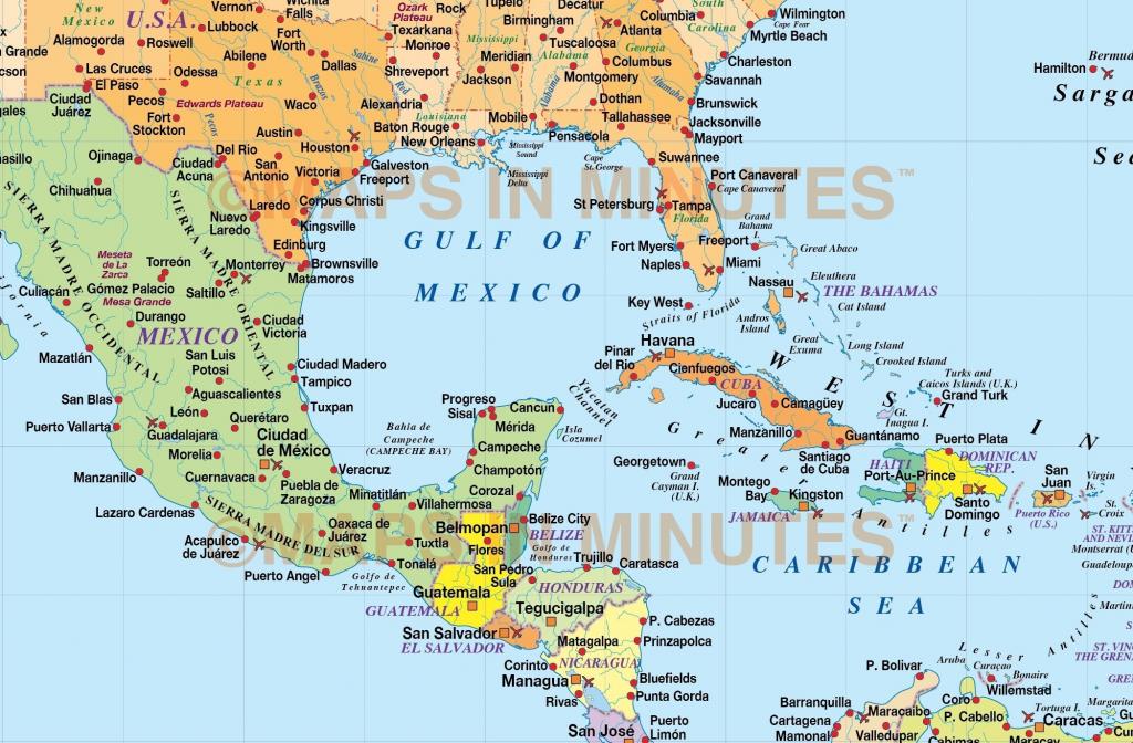 Maps Of Caribbean Islands Printable | Printable Maps