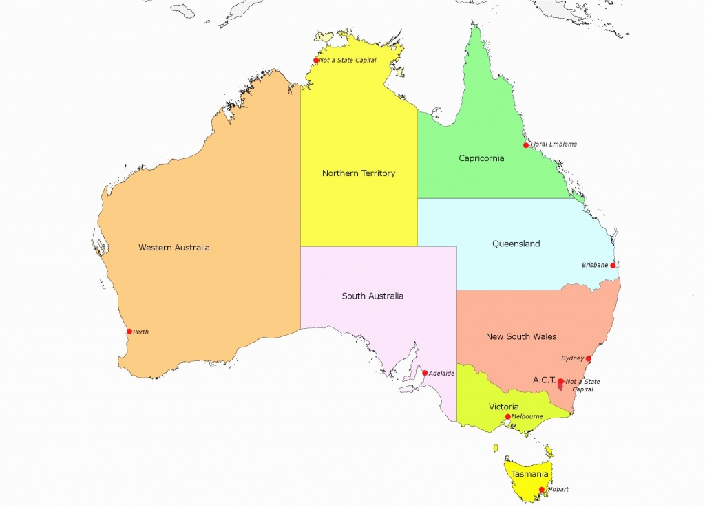 Map Of Us Capitals Printable States And Worksheets E1494188372189 - Printable Map Of Australia With States And Capital Cities