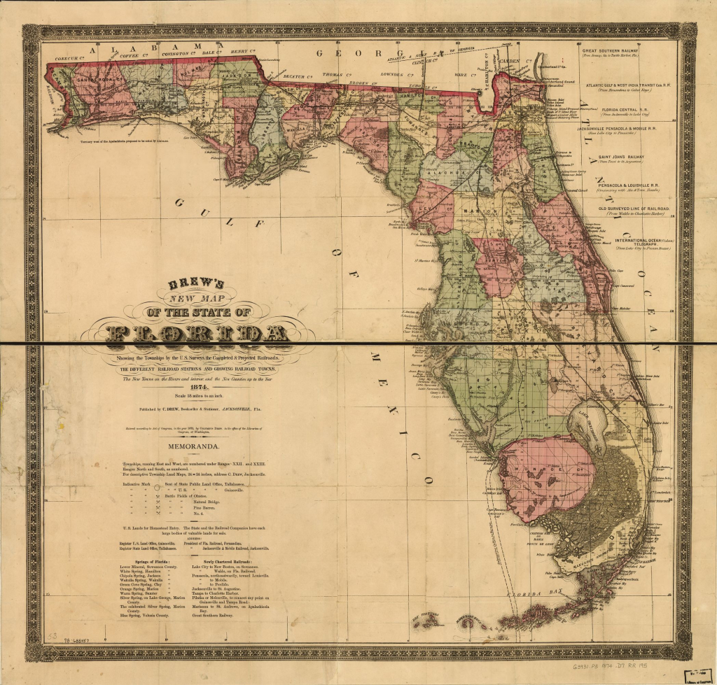 Map Of Us Railroads In 1900 New Railroad Maps 1828 To 1900 Florida - Florida Map 1900