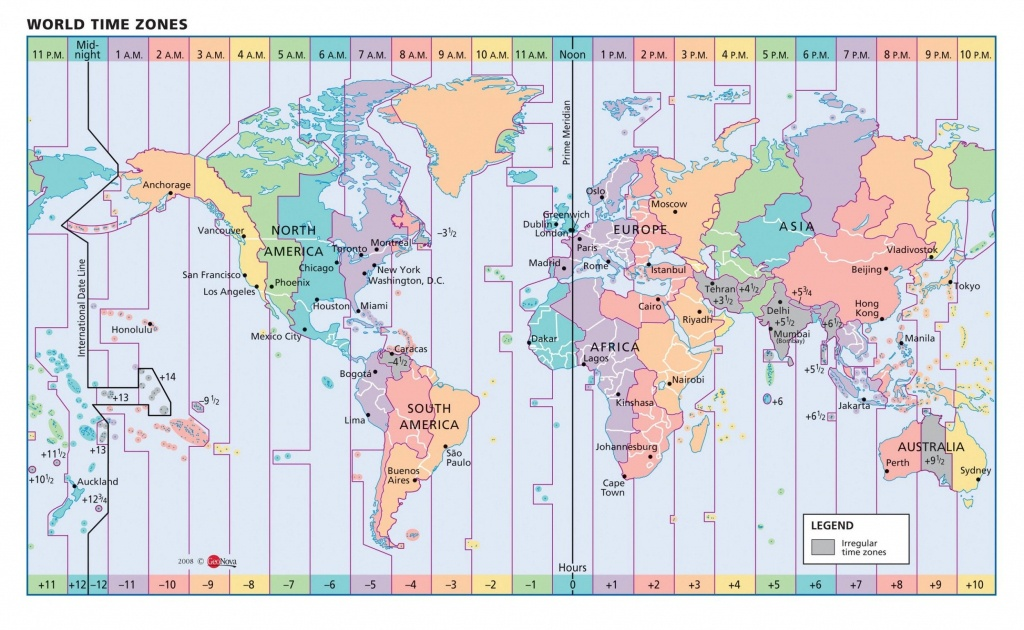 Map Of Us Time Zones Printable Us Time Zone Map Download Time Zone - Printable World Time Zone Map