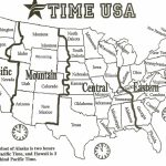 Map Of Us With Time Zones | Sitedesignco - Printable Us Time Zone Map With Cities