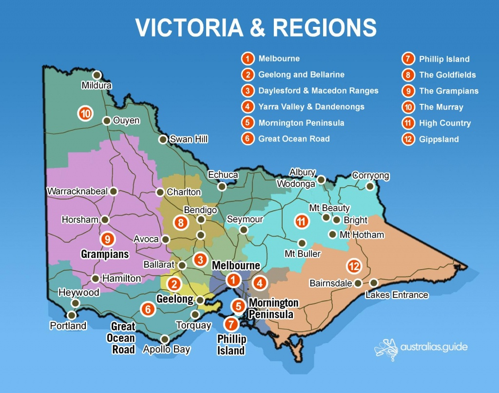 Map Of Victoria | Victoria - Australia's Guide - Printable Map Of Victoria