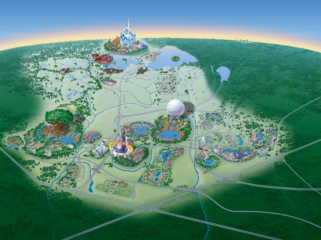 Map Of Walt Disney World Resort - Wdwinfo - Disney World Florida Hotel Map