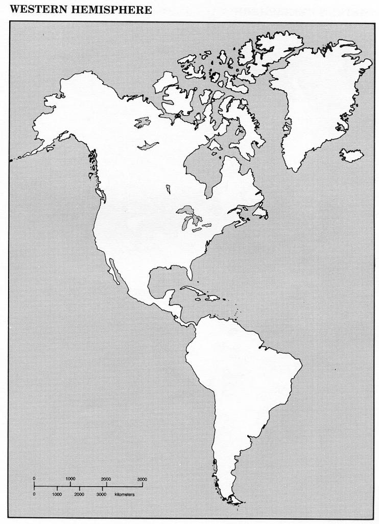 Map Of Western Hemisphere Blank The City Maps Printable Guvecurid - Hemisphere Maps Printable