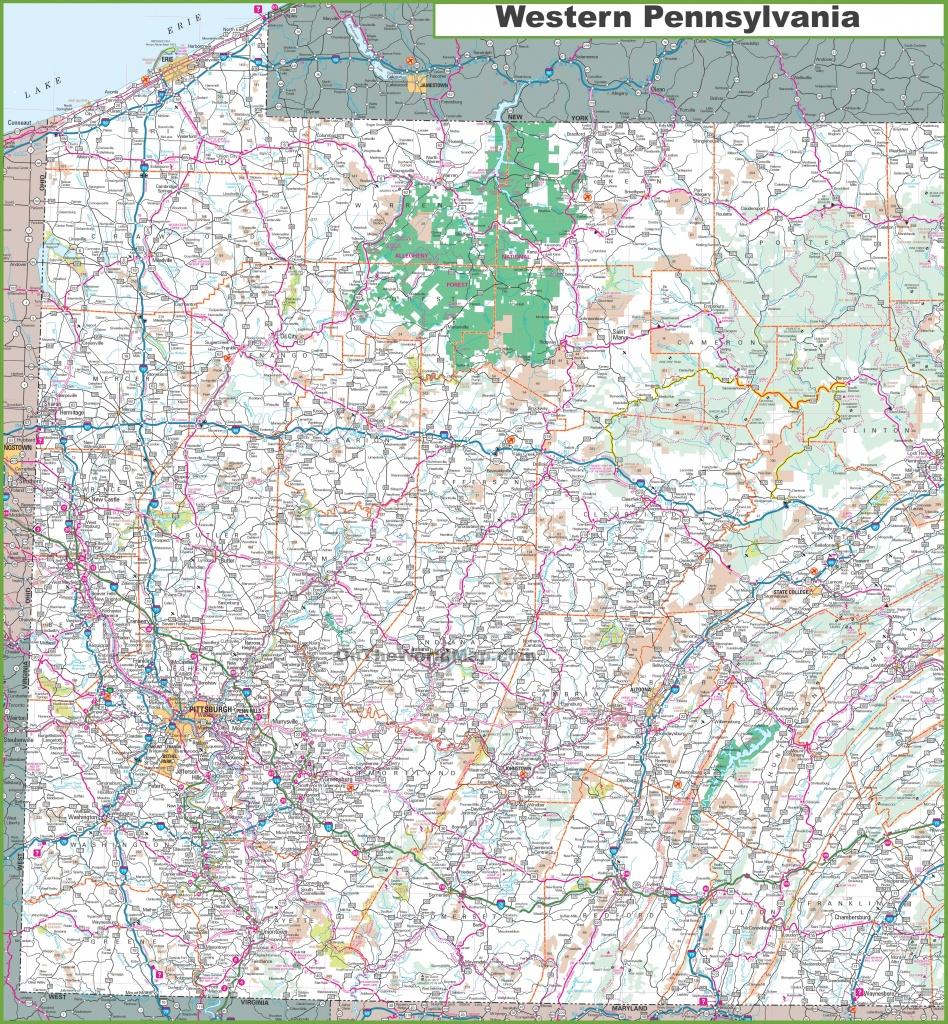 Map Of Western Pennsylvania - Printable Road Map Of Pennsylvania