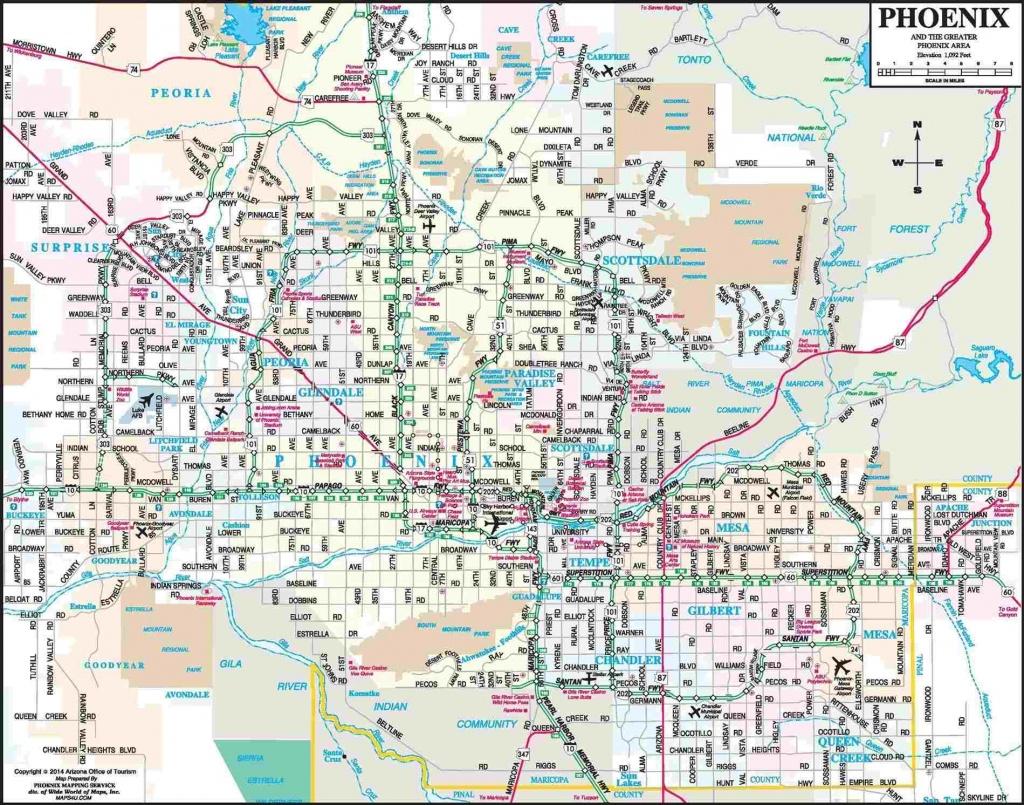 Map Phoenix - Palmshorebeachresort - Palmshorebeachresort - Phoenix Area Map Printable