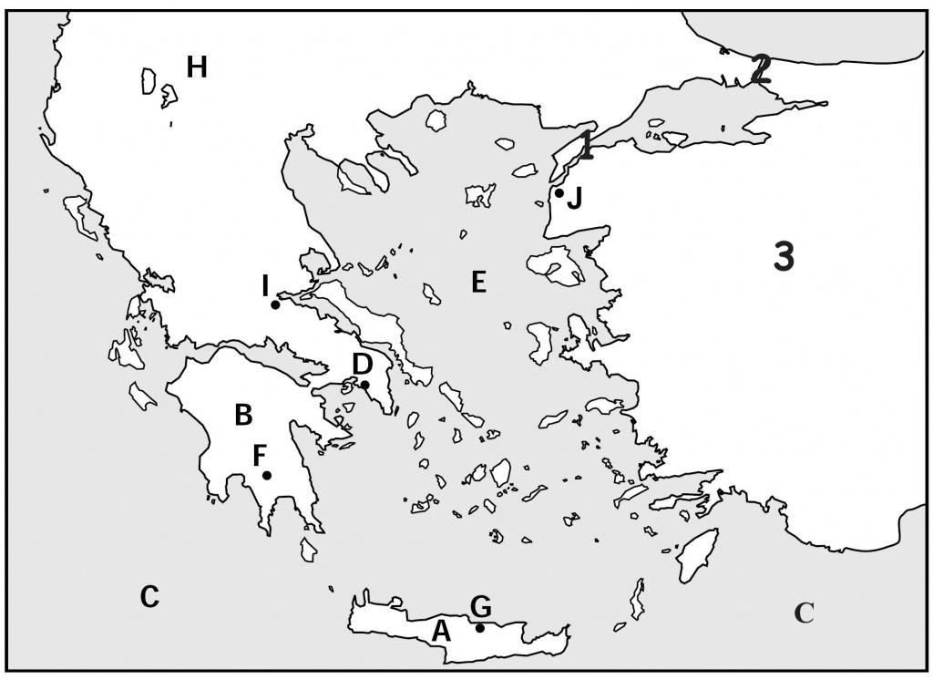 Map Quiz, Ancient Greeks For Kids   Homeschooling   Map Quiz - Outline Map Of Ancient Greece Printable