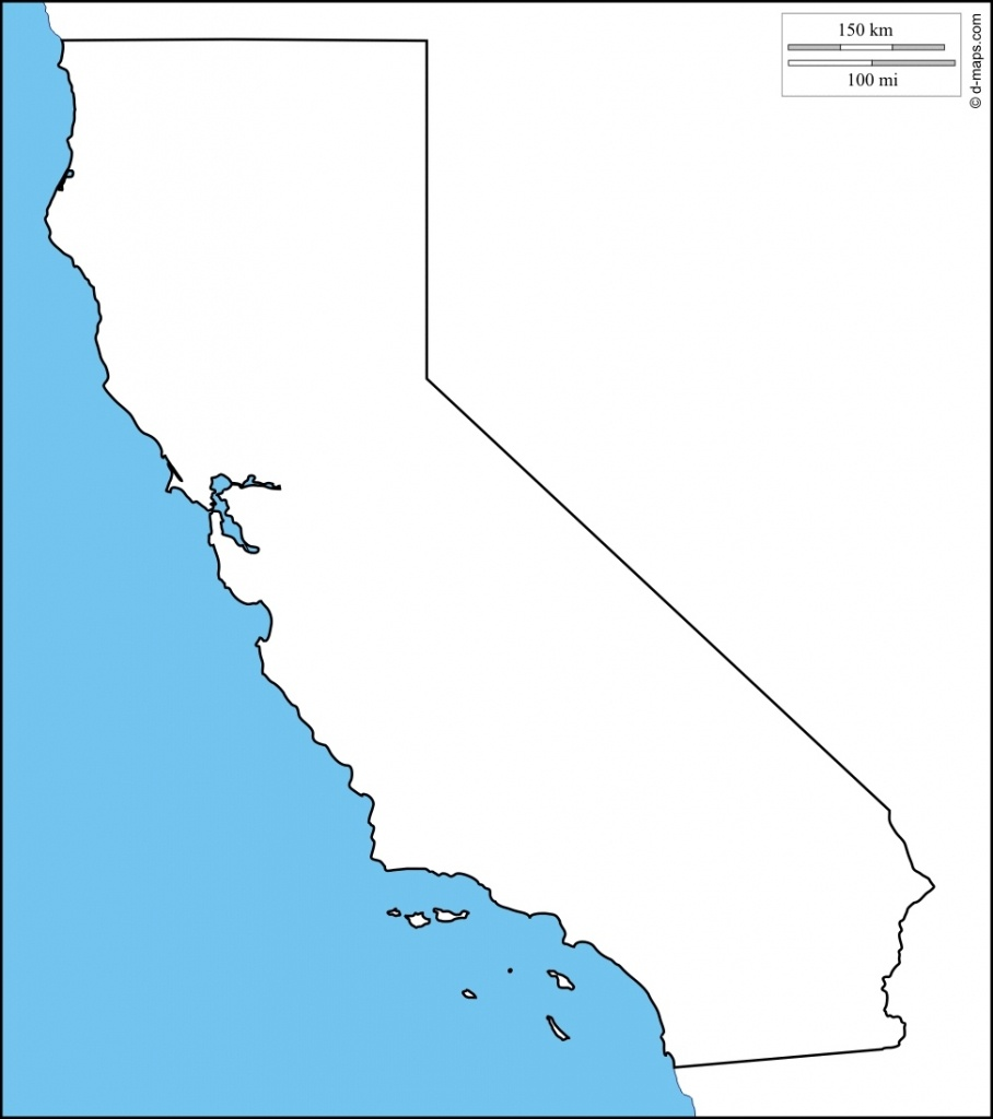 Map Reference. Blank Map Of California Printable – Reference With - Blank Map Of California Printable