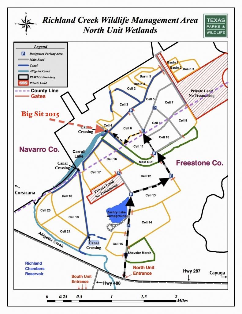 Map | Richland Creek Wildlife Management Area - Texas Wma Map