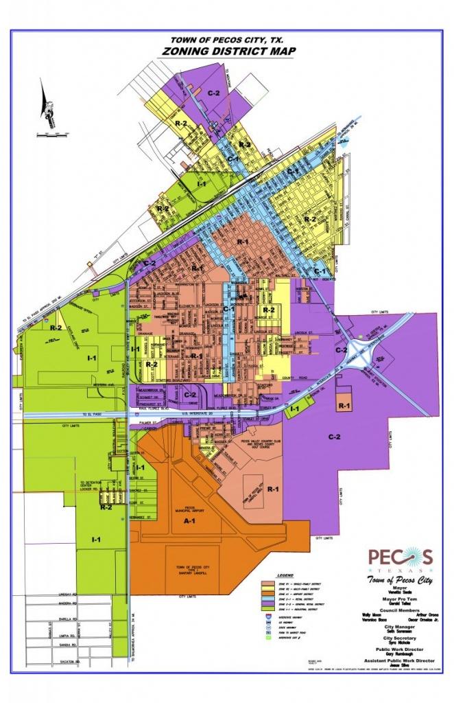 Map Room | Pecos, Tx Edc - Pecos Texas Map
