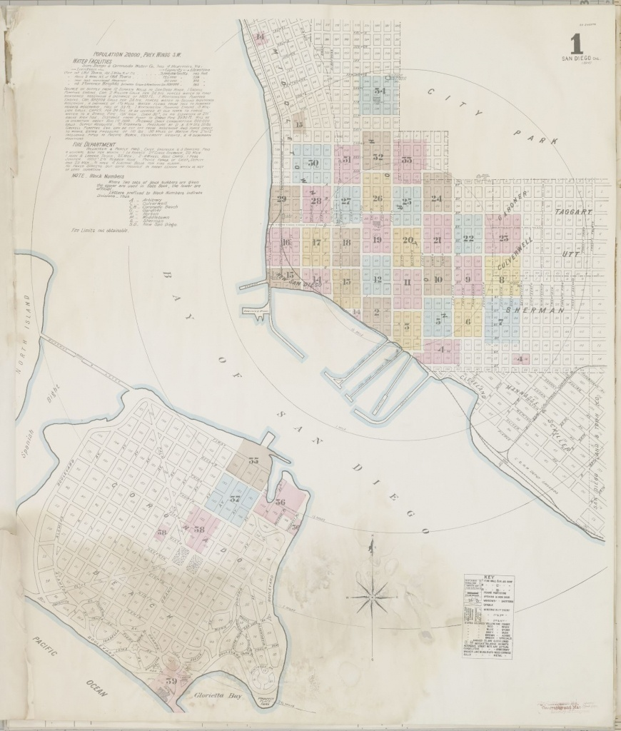 Map, San Diego County | Library Of Congress - Thomas Guide Southern California Arterial Map