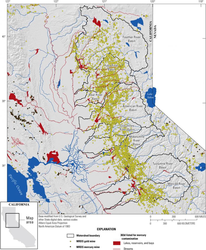 Map Showing Locations Of Historical Gold Mines In The Sierra Nevada - Gold Prospecting Maps California