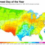 Map Shows When Summer Heat Peaks In Your Town | Climate Central   Southern California Heat Map