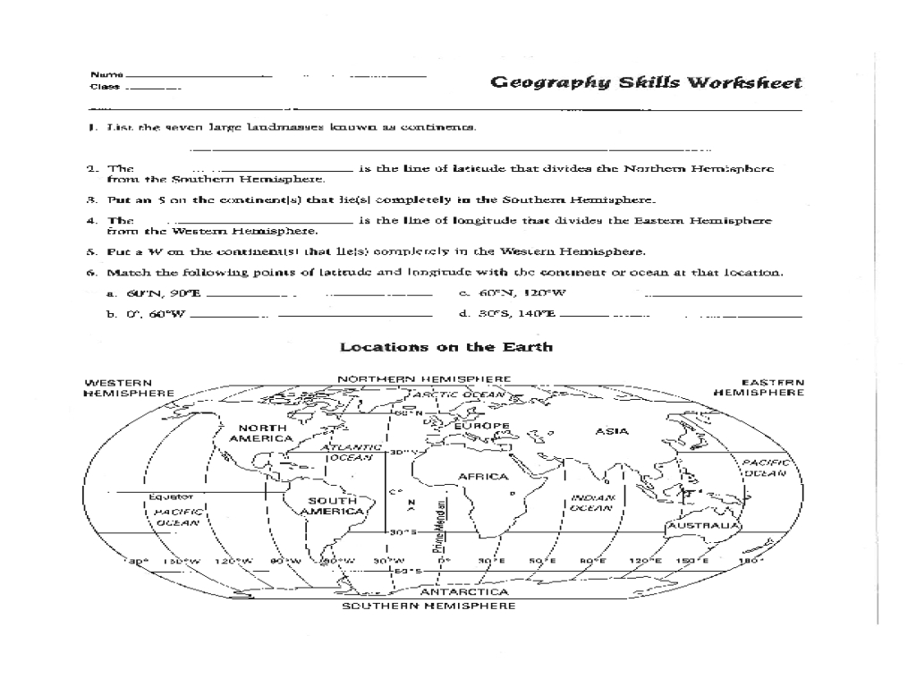 Map Skills Worksheet Pdf Fresh Best Solutions Of 6Th Grade Geography - Free Printable Map Skills Worksheets