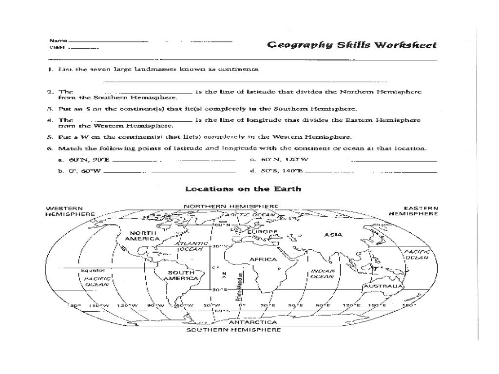 Map Skills Worksheet Pdf Fresh Best Solutions Of 6Th Grade Geography - Printable Map Skills Worksheets