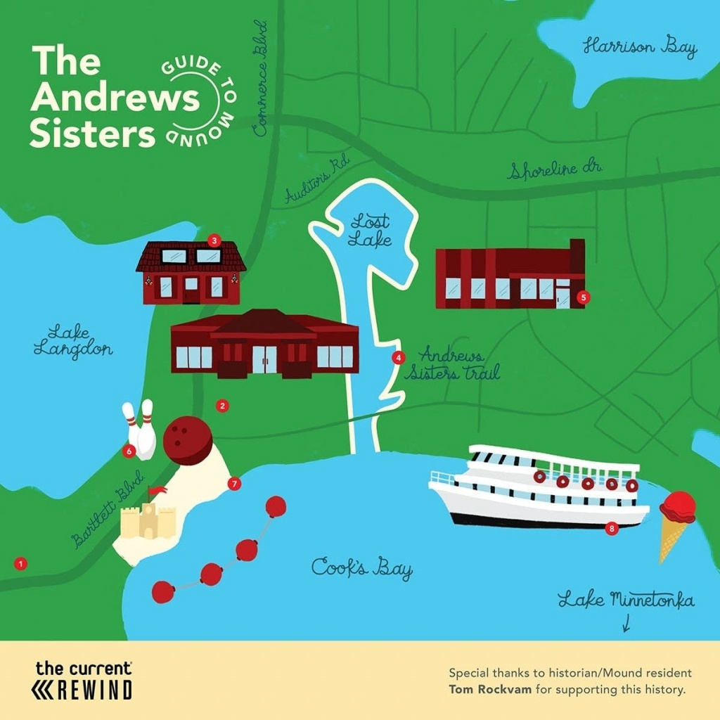 Map: The Andrews Sisters Guide To Mound, Minn.   The Current - Printable Lake Minnetonka Map