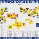 Map: The Top 50 U.s. Craft Breweries In 2014 | Vinepair   California Beer Map