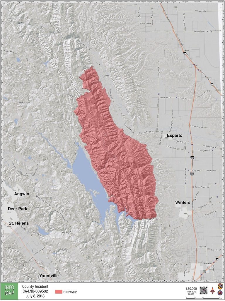 Maps: A Look At The 'county Fire' Burning In Yolo, Napa Counties - Fires In California Right Now Map