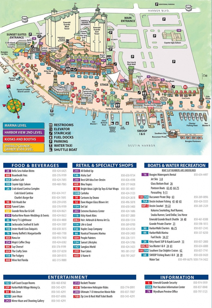 Maps And Directions   Emerald Grande Destin Vacation Rentals - Map Of Destin Florida Attractions