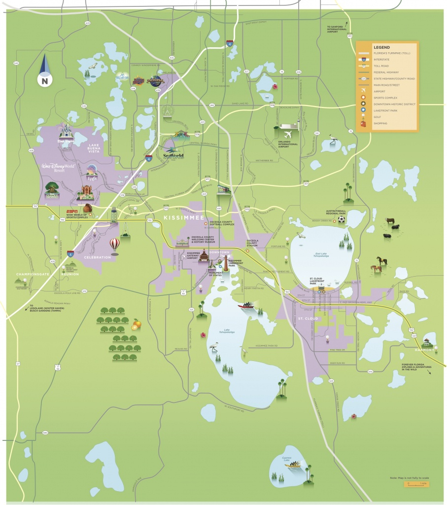 Maps & Area Guides | Experience Kissimmee - Map Of Central Florida Golf Courses