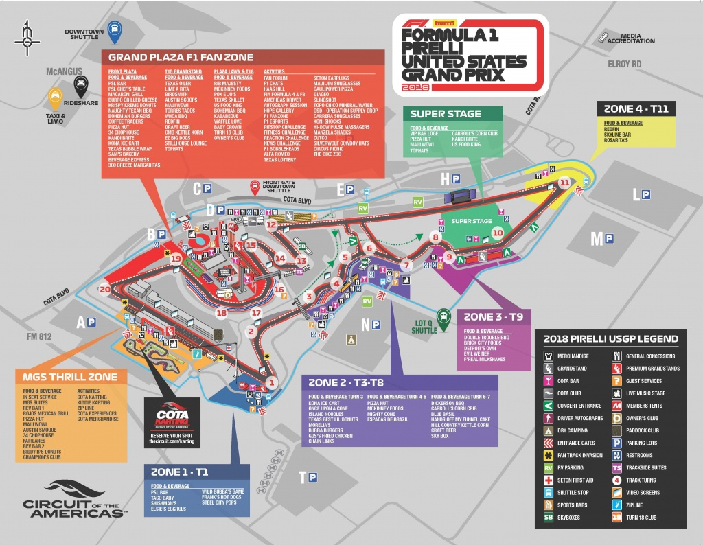 Maps   Circuit Of The Americas - Texas Motor Speedway Parking Map