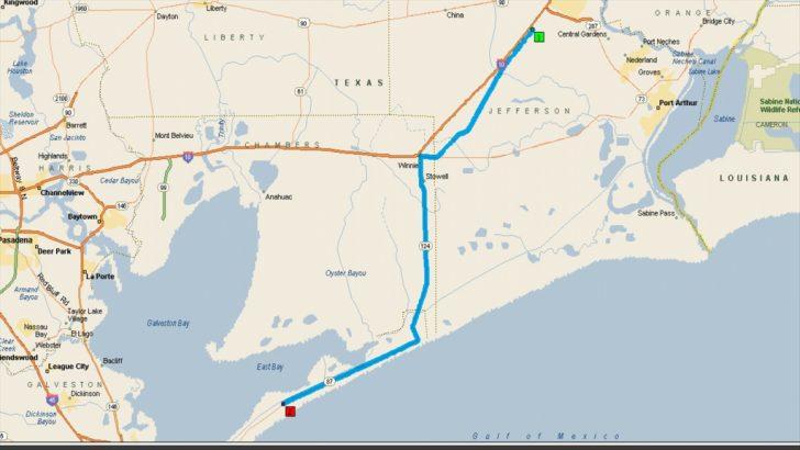 Crystal Beach Texas Map