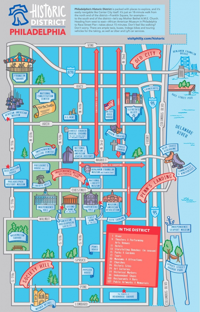 Maps & Directions - Printable Map Of Center City Philadelphia