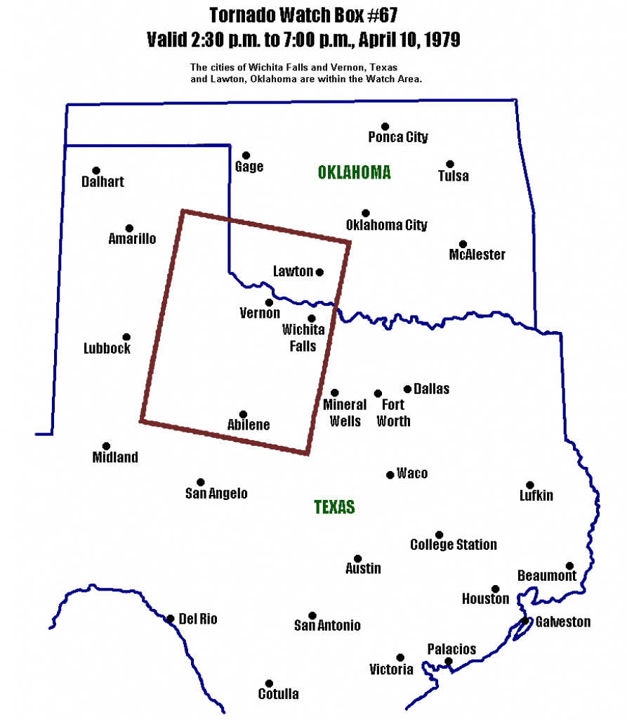Maps, Figures And Diagrams Of The Red River Tornado Outbreak Of 10 - Map Of North Texas And Oklahoma