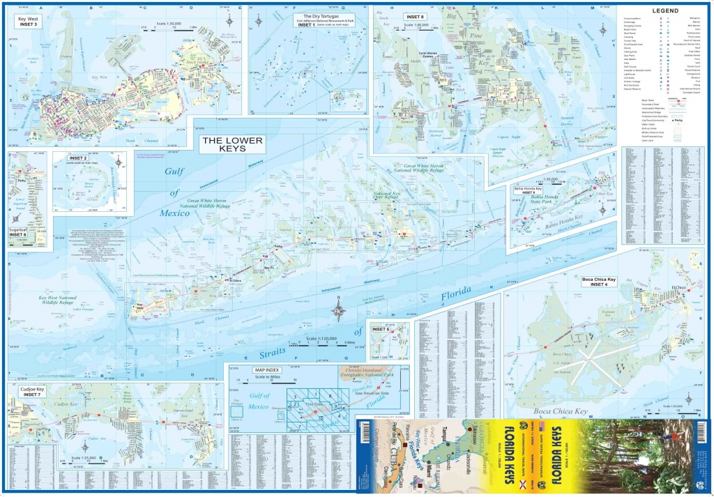 Maps For Travel, City Maps, Road Maps, Guides, Globes, Topographic Maps - Florida Keys Topographic Map