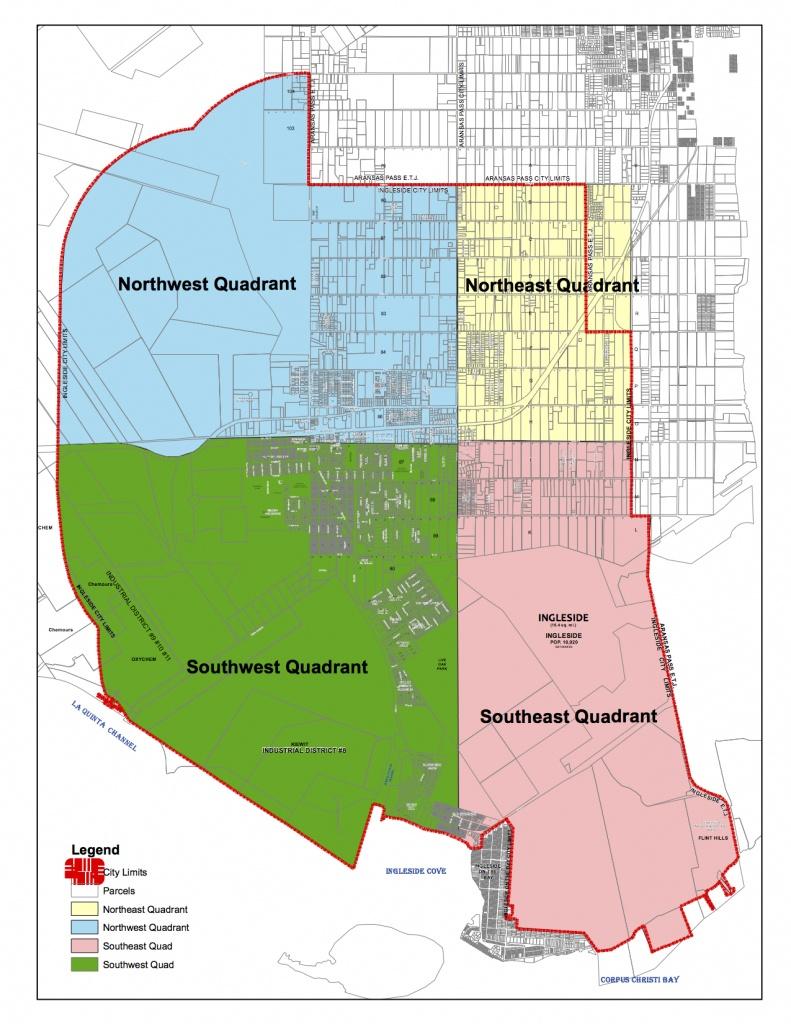 Maps | Ingleside, Texas - Texas Property Lines Map