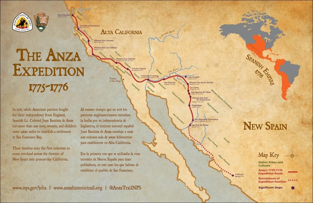 Maps - Juan Bautista De Anza National Historic Trail (U.s. National - Southern California Trail Maps