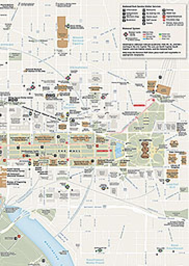 Maps - National Mall And Memorial Parks (U.s. National Park Service) - National Mall Map Printable