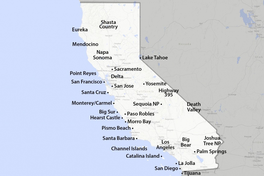 Maps Of California - Created For Visitors And Travelers - Map Of Southern California Coastline