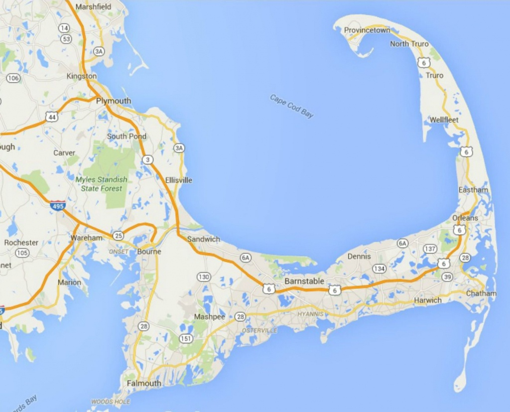 Maps Of Cape Cod, Martha's Vineyard, And Nantucket - Printable Map Of Cape Cod Ma