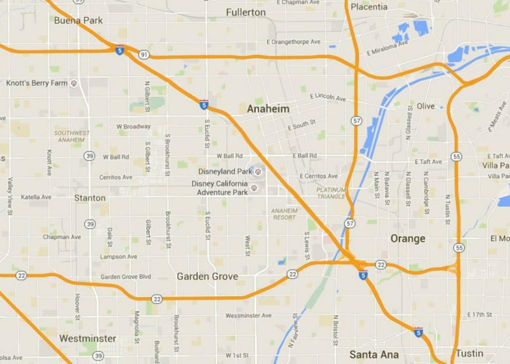 Maps Of Disneyland Resort In Anaheim, California - Anaheim California Google Maps