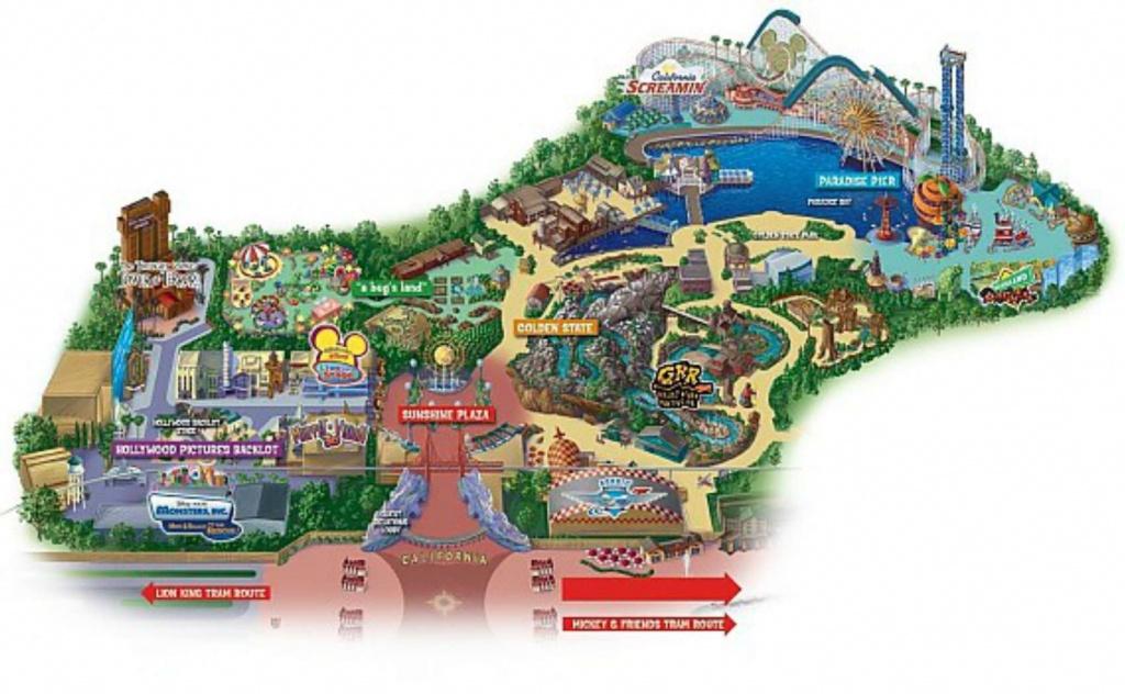 Maps Of Disneyland Resort In Anaheim, California - California Adventure Map 2017