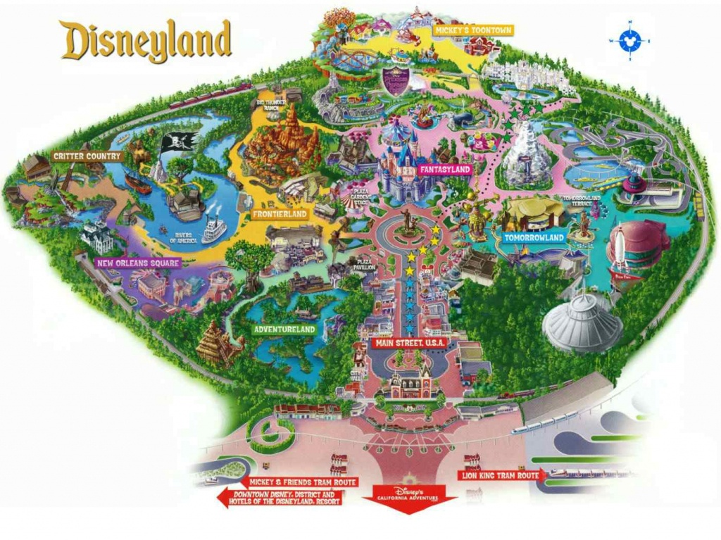 Maps Of Disneyland Resort In Anaheim, California - Disney World California Map