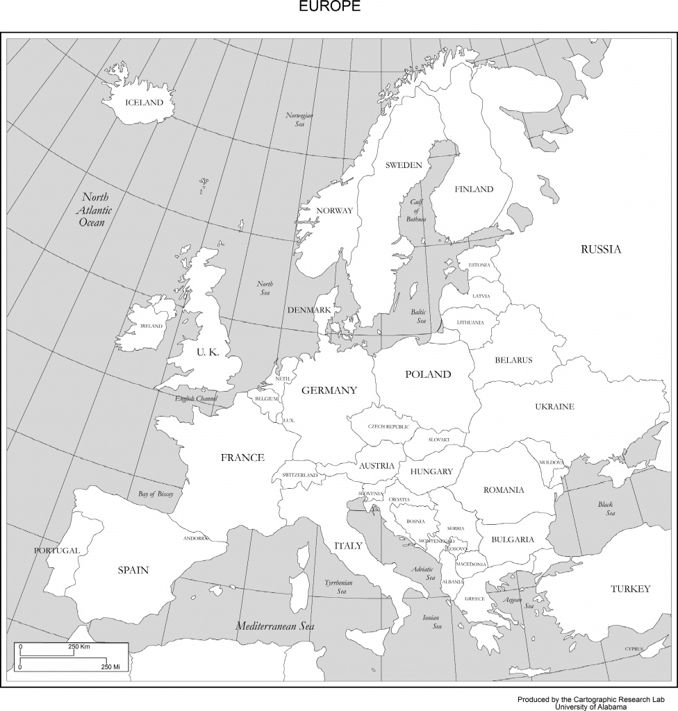 Maps Of Europe - Printable Map Of Europe With Major Cities